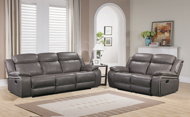 Enjoyable Midas 3 2 Grey Or Brown Leather Recliner Sofa Set By Mac Designs Grey 3 2 Set Squirreltailoven Fun Painted Chair Ideas Images Squirreltailovenorg
